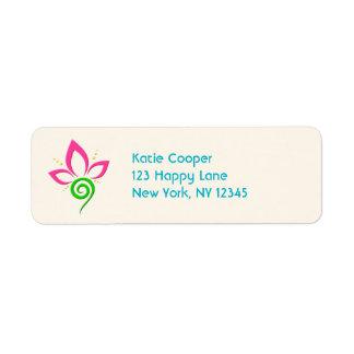 Pretty Floral Symbol Design Return Address Label