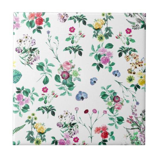 Pretty Floral Tile