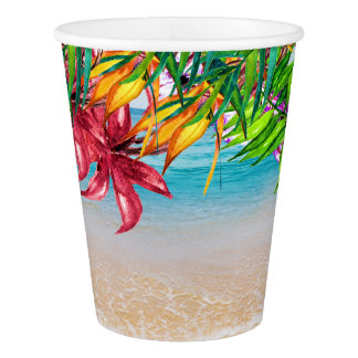 Pretty Floral Tropical Party Goods Cups