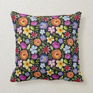 Pretty Floral Watercolour Pattern Cushion