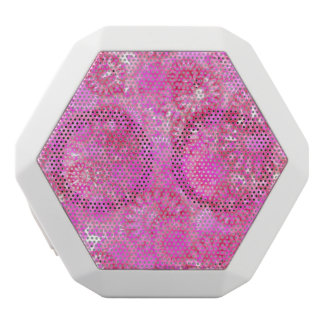 Pretty floral. white bluetooth speaker