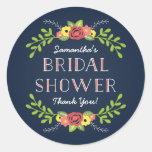 Pretty Florals | Bridal Shower Favour Round Sticker