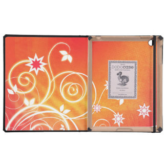Pretty florals on orange cases for iPad