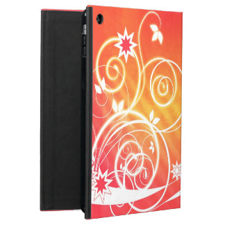 Pretty florals on orange iPad air cases