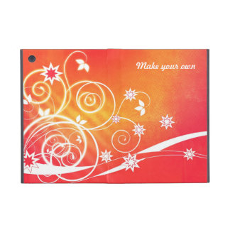 Pretty florals on orange iPad mini covers