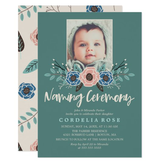 Pretty Florals   Pink & Green Naming Ceremony