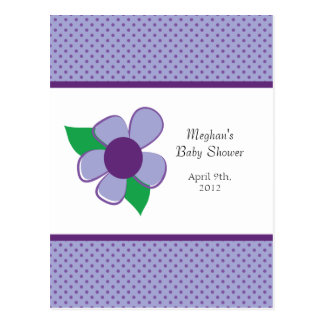 Pretty flower -baby shower advice cards postcard