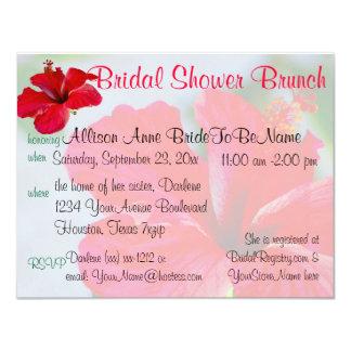 Pretty Flower  Bridal Shower Brunch Custom Invitations