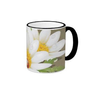 pretty flower cup ringer mug
