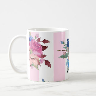 Pretty flower design coffee mug