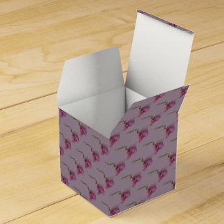 Pretty flower floral pink purple green party favour box