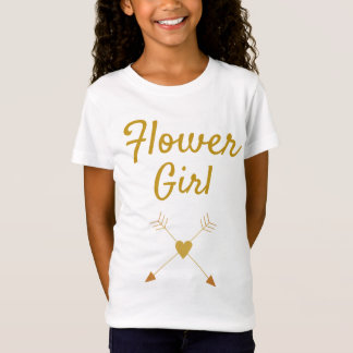 Pretty Flower Girl T-Shirt