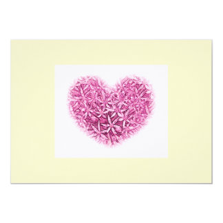 Pretty Flower heart Wedding Invitations. Card