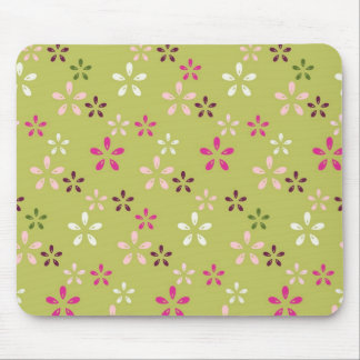 Pretty Flower Pattern Pink and Green Gifts Mouse Pads