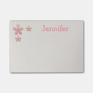 Pretty Flower Post It Notes