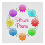 Pretty Flower Power Posters