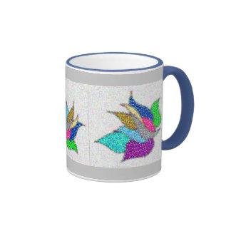 Pretty Flower Ringer Mug