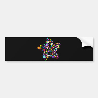Pretty Flower Star Bumper Sticker