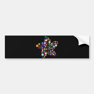 Pretty Flower Star Bumper Stickers