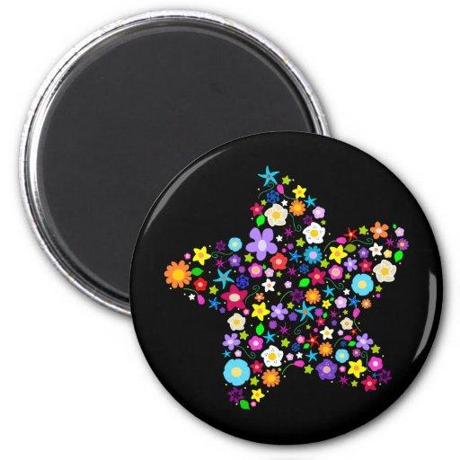 Pretty Flower Star Fridge Magnet