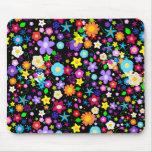 Pretty Flower Star Mousemats