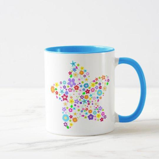Pretty Flower Star Mug