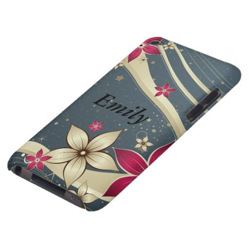Pretty flower wave design barely there iPod cover