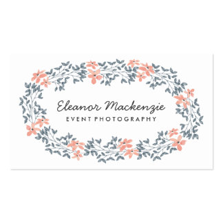 Pretty Flower Wreath | Watercolor Floral Pack Of Standard Business Cards