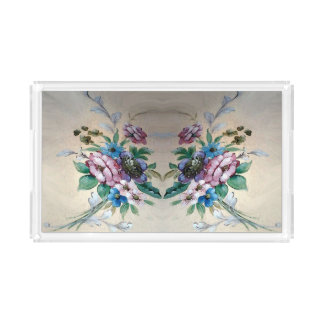Pretty Flowers Acrylic Tray