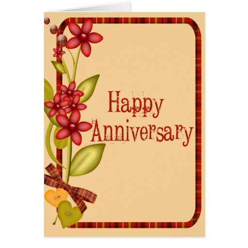 Pretty Flowers Anniversary Card