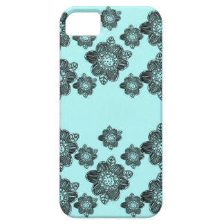 Pretty Flowers Aqua iPhone 5 Case