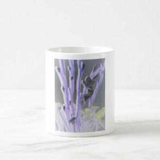 pretty flowers basic white mug