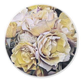Pretty flowers ceramic knob