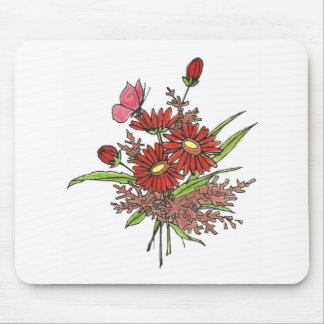 Pretty Flowers Folk Art Pad for Computers Mousepad
