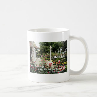 Pretty flowers garden Christian bible verse photo Coffee Mug