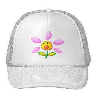 Pretty flowers mesh hats