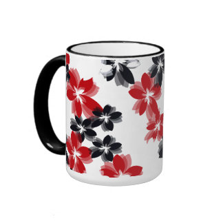 Pretty Flowers Ringer Mug