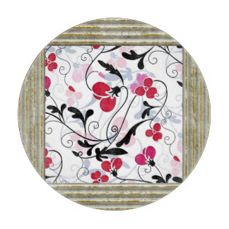 Pretty Flowers Pattern Cutting Board