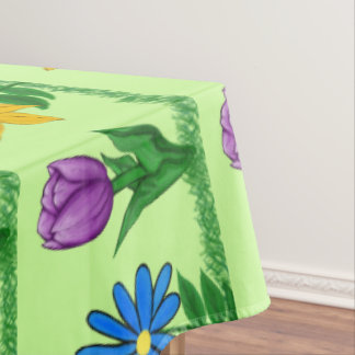 Pretty Flowers Patterned Table Cloth