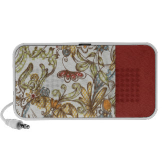 pretty flowers with Red Side Color iPhone Speaker