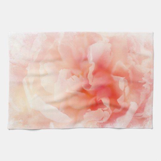 Pretty Fluffy Pink Peony Tea Towel