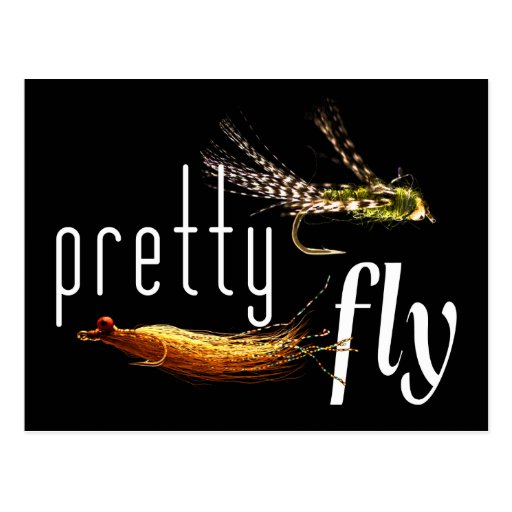 Pretty Fly, Funny Fishing Design Postcard