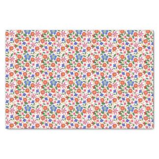 Pretty Folk Art Style Floral Tissue Paper