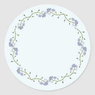 pretty Forget-Me-Not flowers Classic Round Sticker