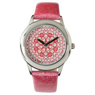 Pretty Foursquare Heart Glitter Band Watch