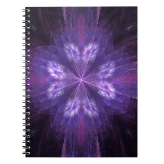 Pretty fractal butterfly flower shape notebook