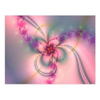 Pretty Fractal Flower Postcard