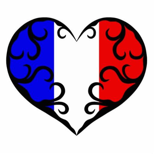 "Pretty France heart 5x7"" Cut Outs"
