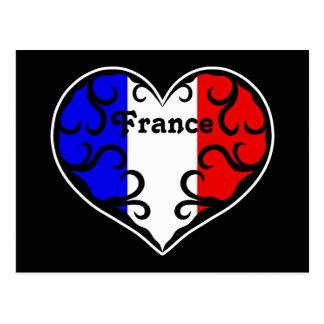 Pretty French heart Postcard