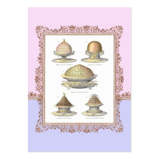 Pretty French Vintage Pastries for Bakery Pack Of Chubby Business Cards